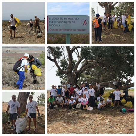 A fantastic beach clean up with the French Club of Las Palmas on Sunday