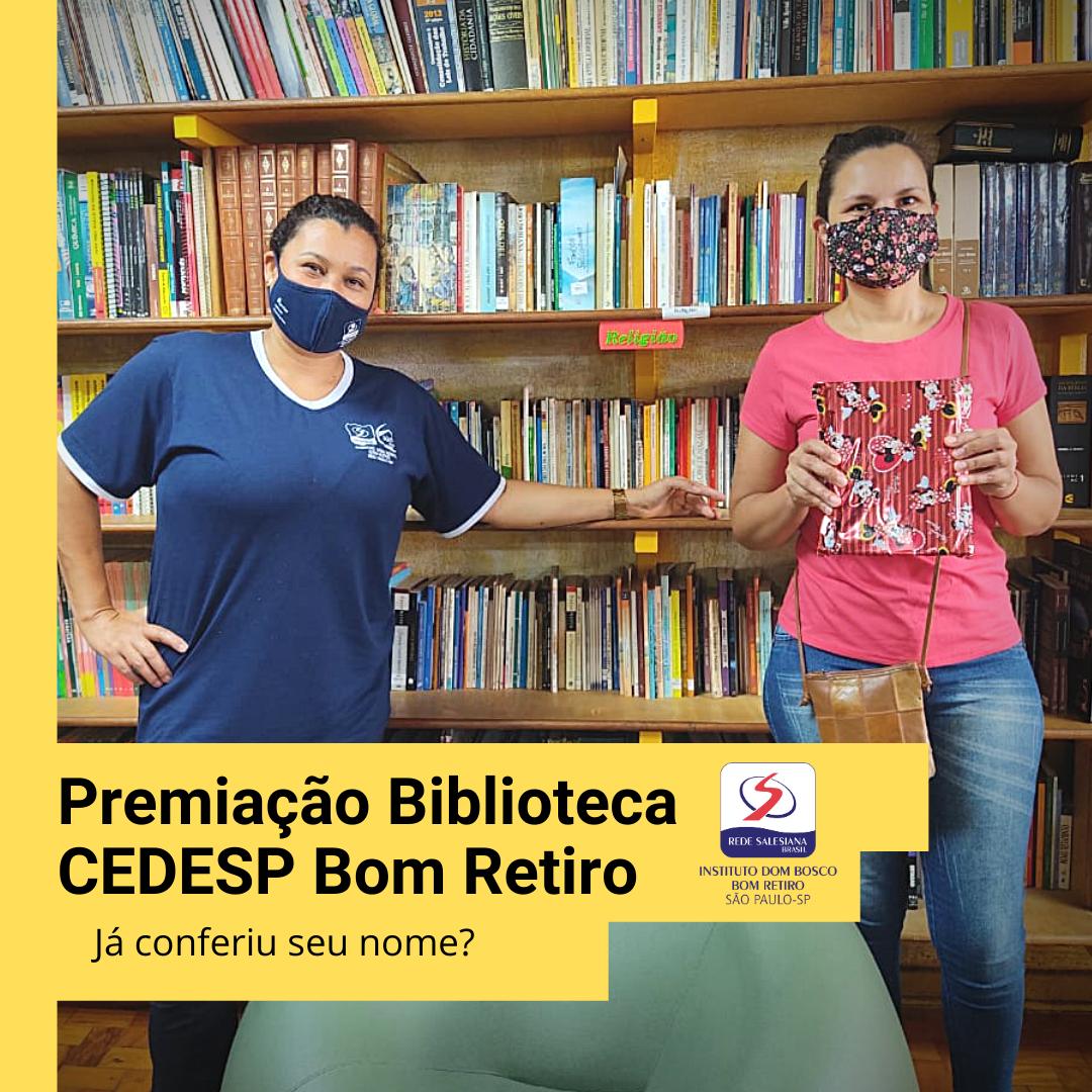 Premiação Biblioteca CEDESP Bom Retiro (