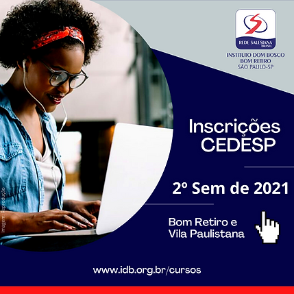 Inscrições 2° Semestre de 2021 CEDESP Bo