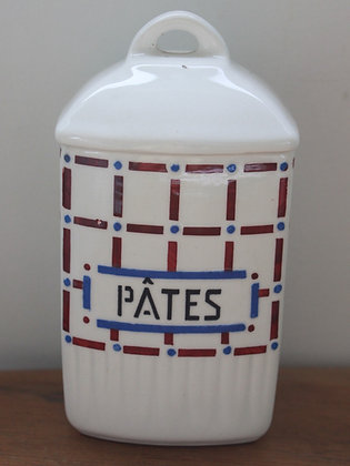 French Ceramic Pasta Canister
