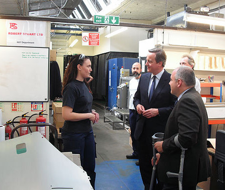 PM David Cameron visited Robert Stuart