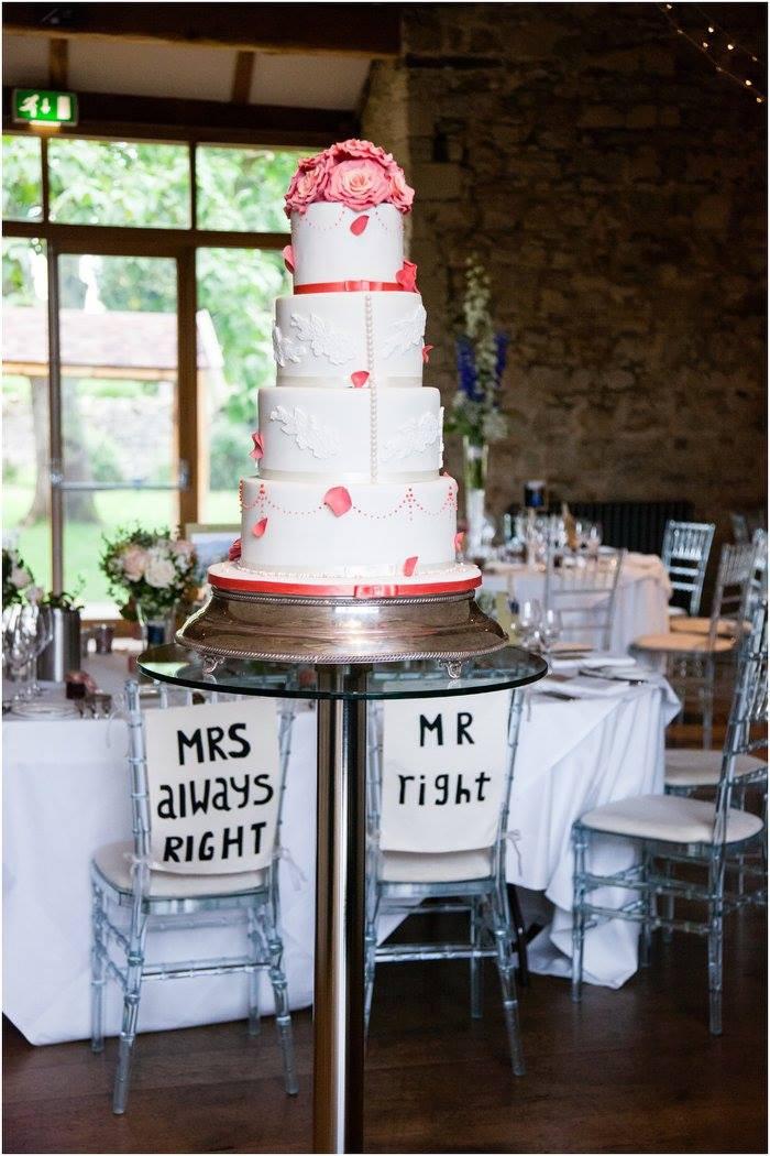 Notley Abbey coral wedding cake