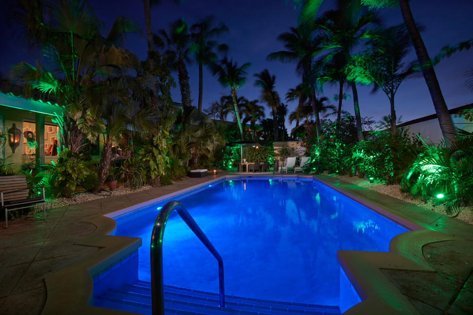Poolview at night