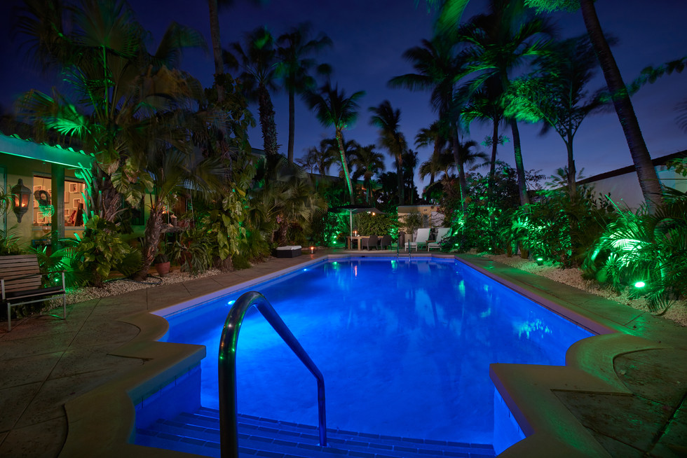 Poolview at night