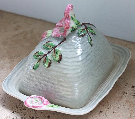 English Ceramic Lidded Butter Dish