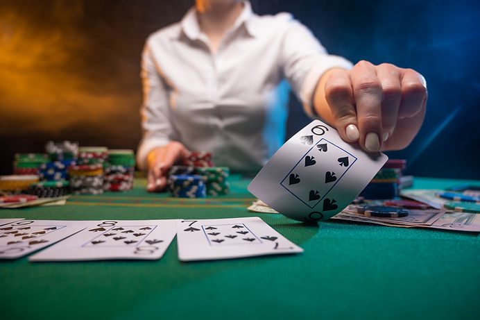 Casino background, online poker and big