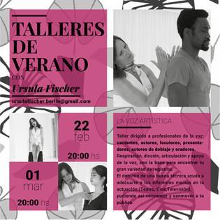 Ursula Fischer Talleres de Verano 2018 .