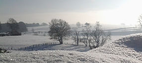 Paysage campagne hiver neige