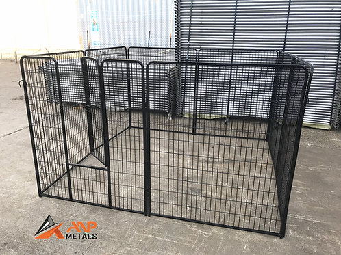Black Puppy Pen 2m x 2m x 1.2m