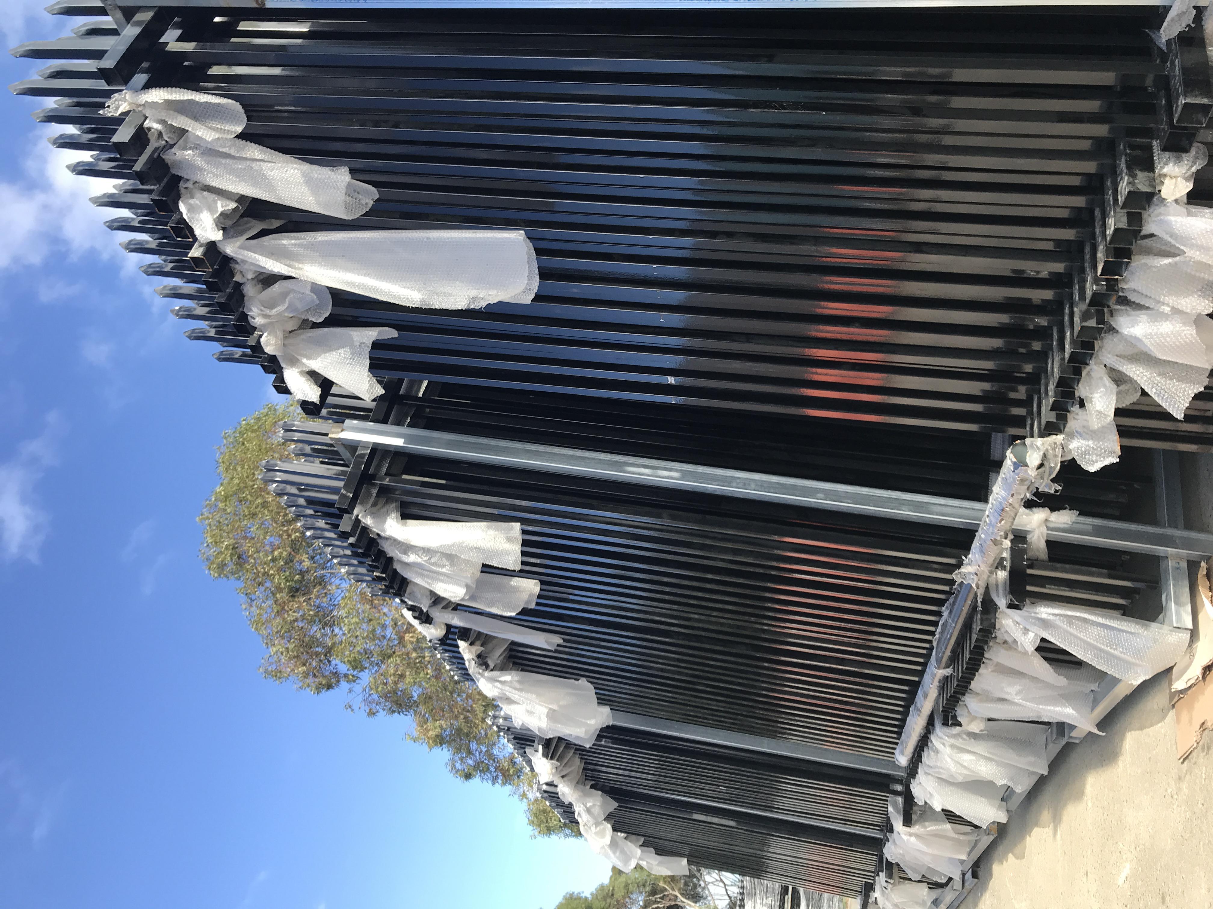 Tubular fence Black color (3)