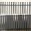 Thumbnail: Black Coated Tubular Security Fencing 2.1 H  x 2.34W