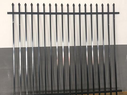 Black Coated Tubular Security Fencing 2.1 H  x 2.34W