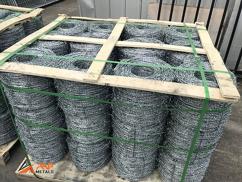 Heavily Galvanised Steel Barbed Wire 500m