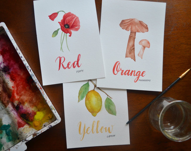 Nature Color Learning Cards