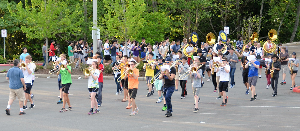 Marching Band practice