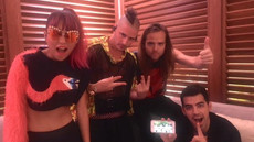 DNCE watches the Marching Band