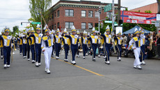 Marching Band entertains at Ballard Parade