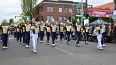 Marching Band entertains at Ballard Parade