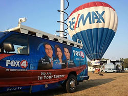 RE/MAX Balloon and Fox News 4