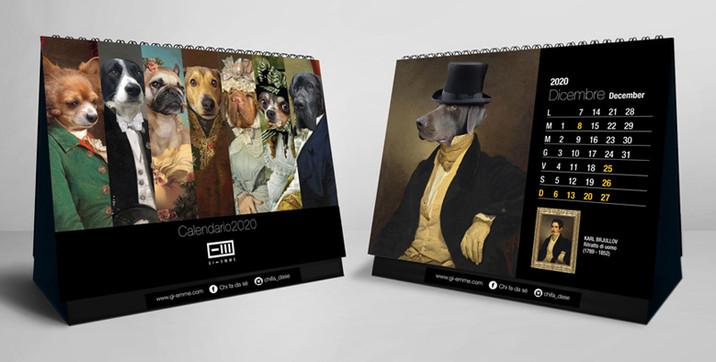 Calendario da tavolo Cani