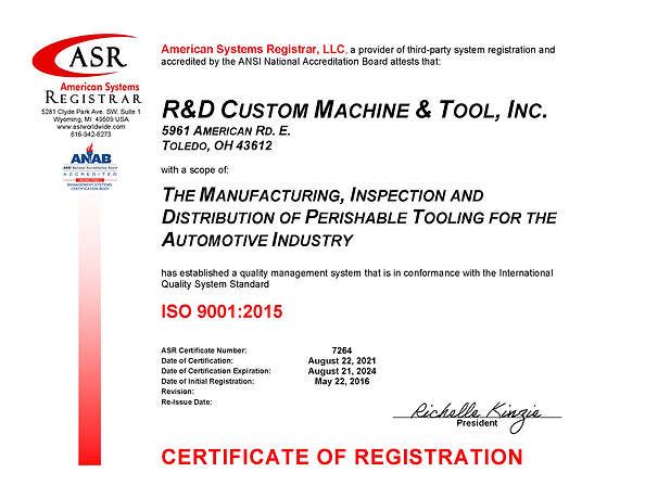 7264 R&D Custom Machine ISO 9001 Certificate Aug 2021signed.png