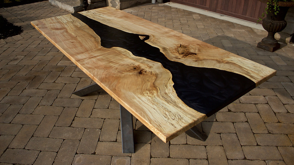 Black Witch Book Matched Maple River Table