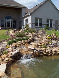 95ft stream to swimmer pond