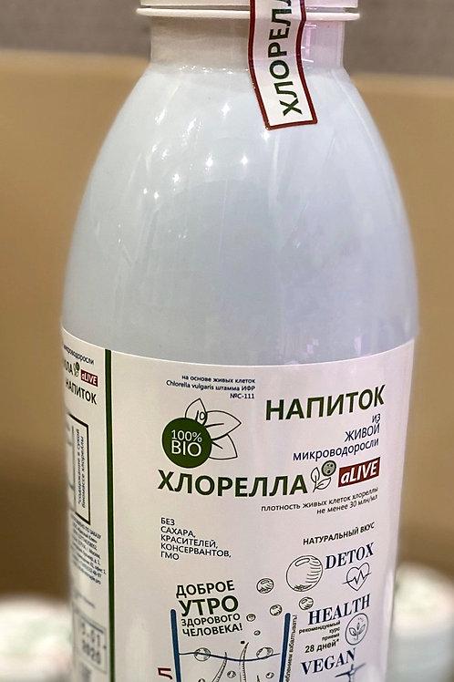 Напиток Хлорелла aLIVE из живой микроводоросли бут.0,5л