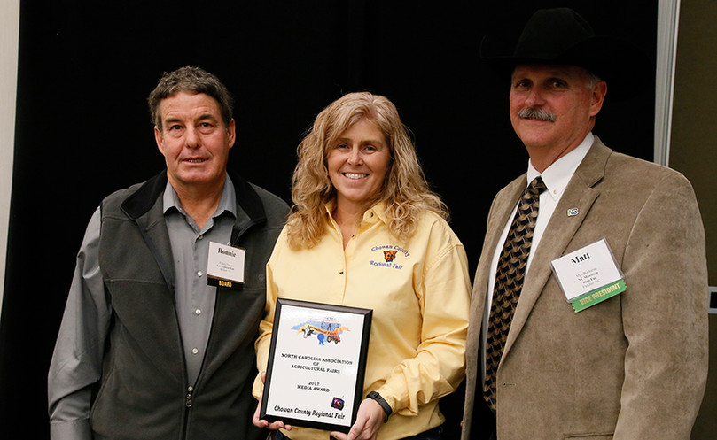 Becky Wilder, receiving the Media Award