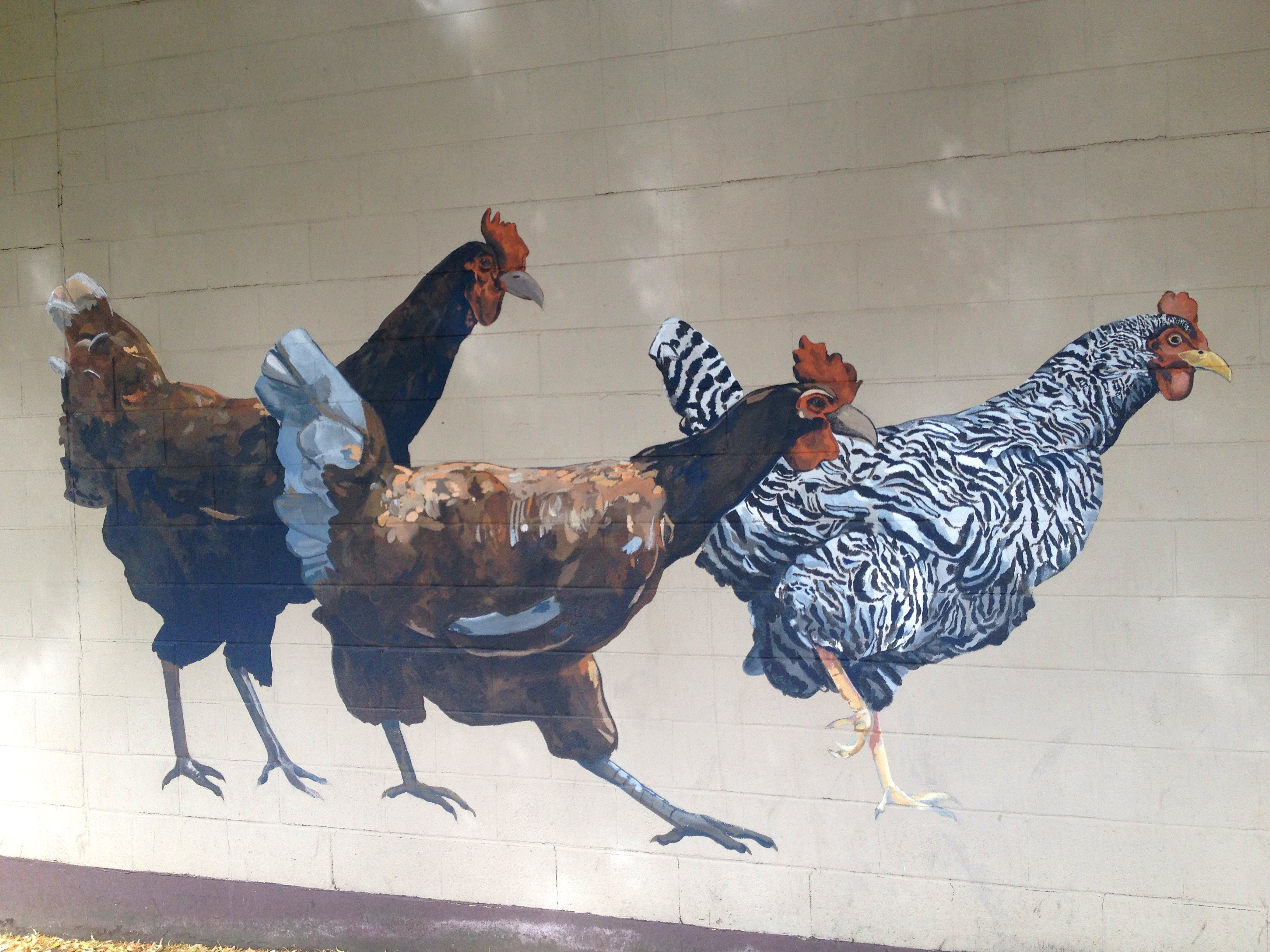 Mosco Food Co-Op, mural