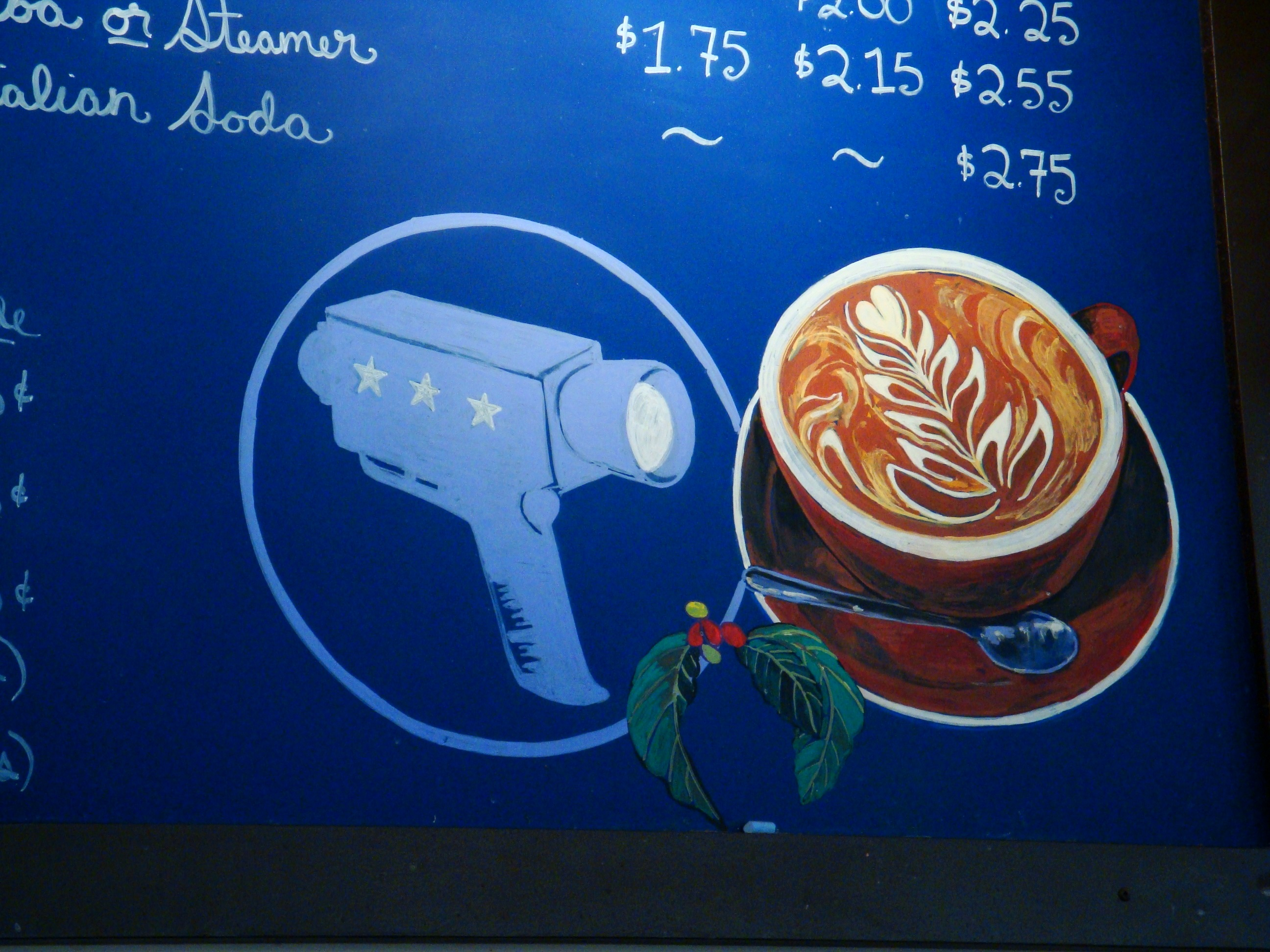 Verite Coffee, price board