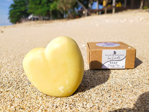 Shea butter, honey, clay & palmarosa soap
