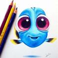 Pencil color cartooning