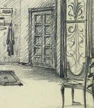 Charcoal interior illustration