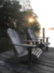 Chairs on the dock, Lake Anna , VA