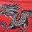 Thumbnail: Red Dragon Print Summer Dress