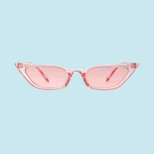 Slim Cat Eye Sunglasses in Pink