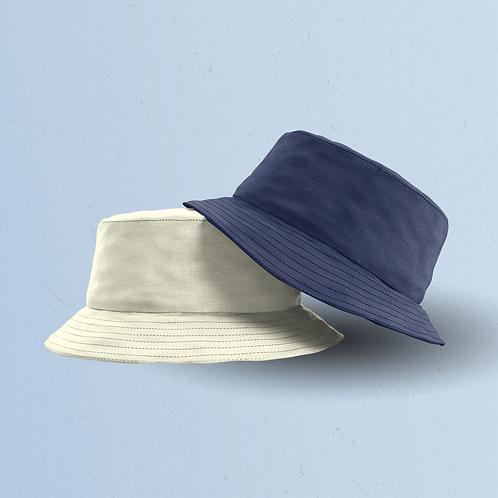 Navy & Cream Reversible Bucket