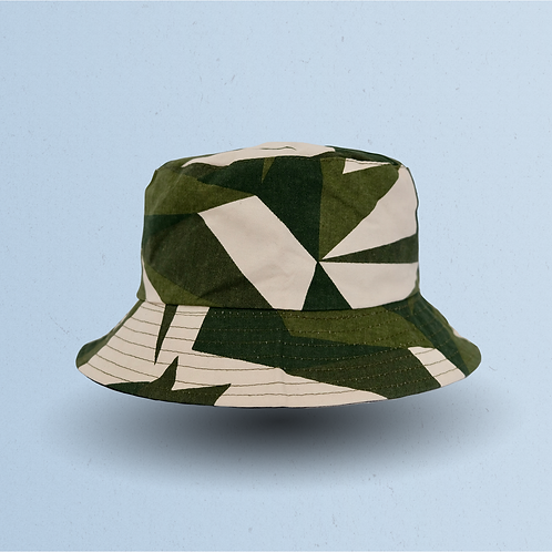 Green Fragmented Camouflage Reversible