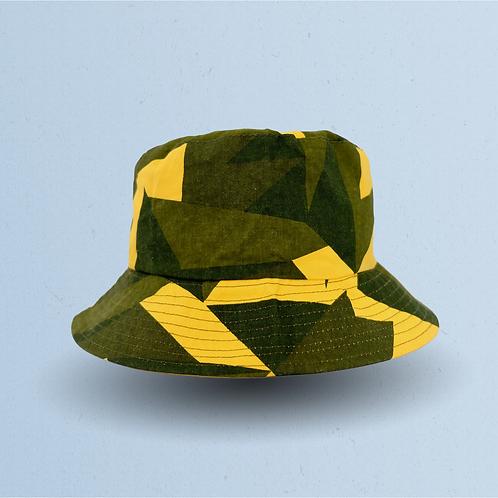 Yellow Fragmented Camouflage Bucket