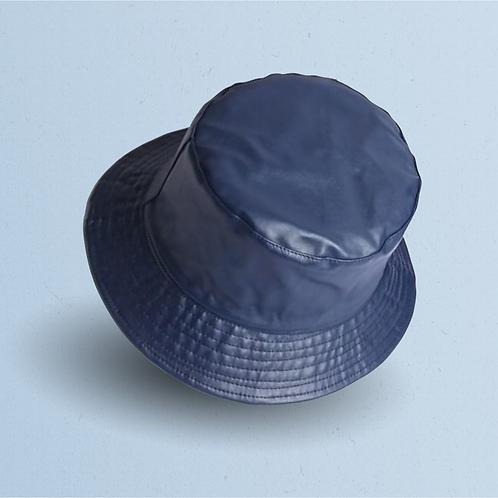 Blue Leather Reversible Bucket
