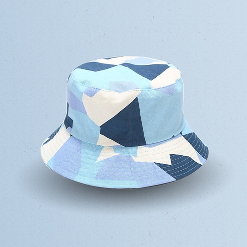 Blue Fragmented Camouflage Reversible