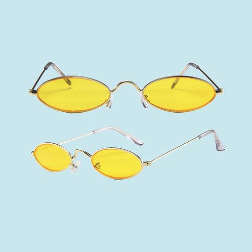 Yellow Oval Sunglasses