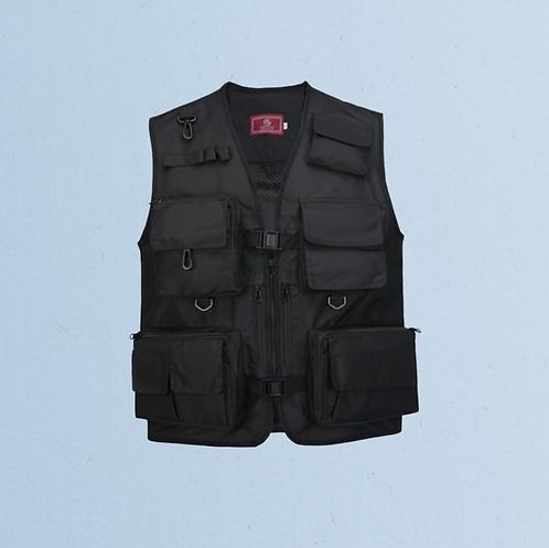 Sleeveless Utility Jacket