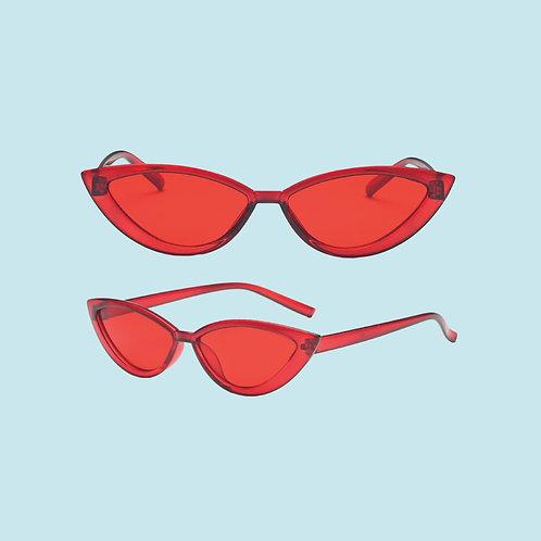 Cat Eye Sunglasses in Red