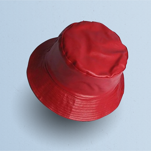 Red Leather Reversible Bucket