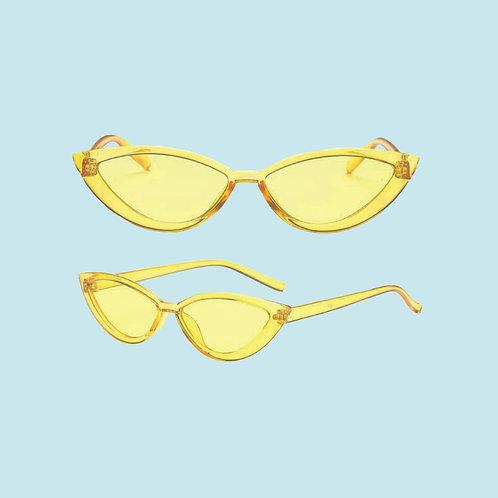 Cat Eye Sunglasses in Yellow