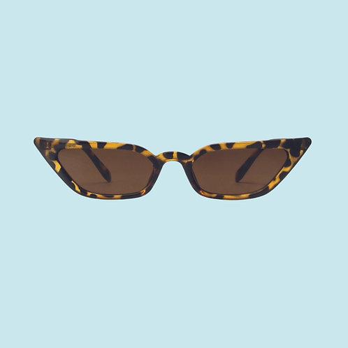 Slim Cat Eye Sunglasses in Tortoise