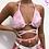 Thumbnail: Faux Fur Bralette in Baby Pink