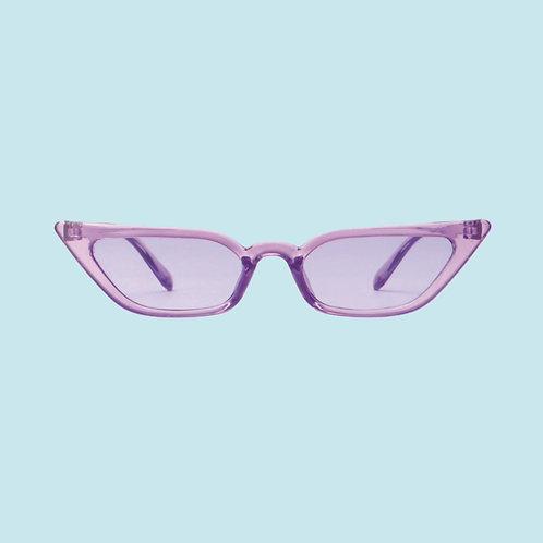 Slim Cat Eye Sunglasses in Purple